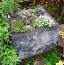 A fish box trough by Richard and Ann Rosenberg.